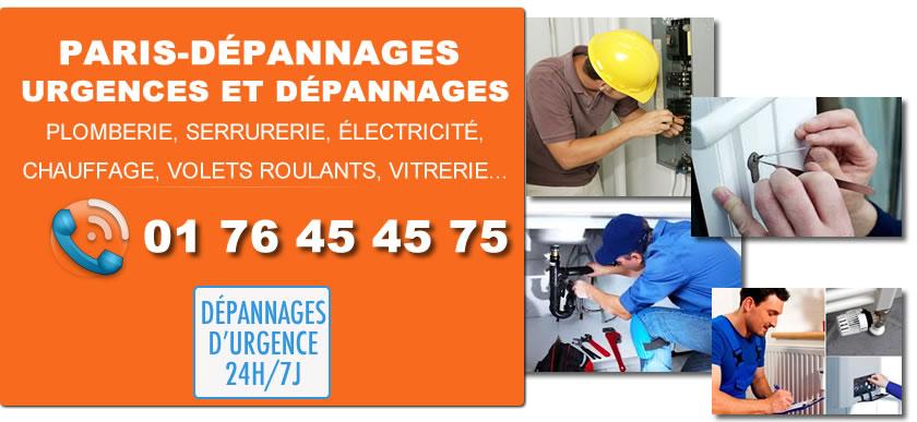 Urgences Dépannage Paris